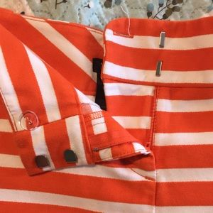 Ann Taylor Shorts - Ann Taylor Orange Striped Shorts